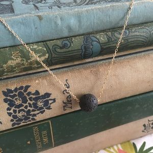 Eclectically Curated Jewelry - Minimalist Lava Bead Diffuser Necklace